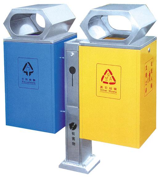 钢板喷塑垃圾桶:jd-e002