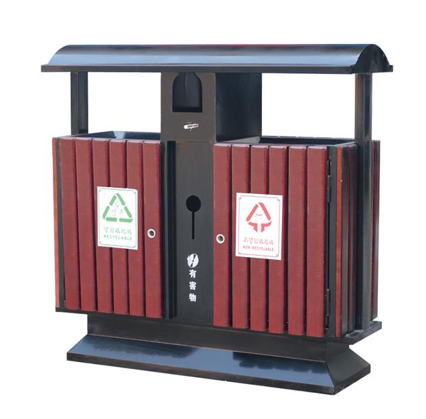 厂家供应钢木垃圾桶环卫垃圾桶小区垃圾桶果壳箱jd