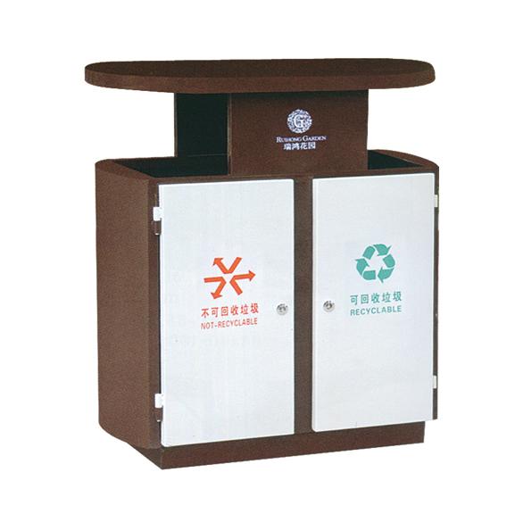 厂家供应钢板垃圾桶户外垃圾桶环卫垃圾桶果壳箱jd-3