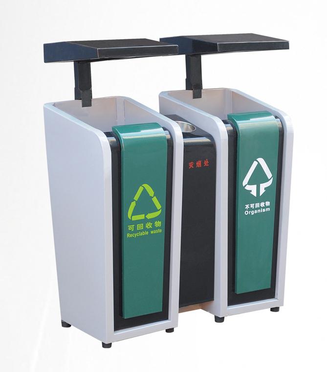 钢板喷塑垃圾桶 jd-3301