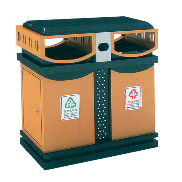 钢板喷塑垃圾桶 jd-3601