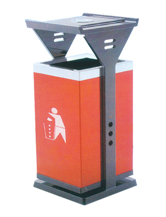 厂家供应钢板垃圾桶户外垃圾桶环卫垃圾桶果壳箱jd